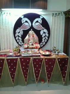 Decoration For Ganpati, Birthday Cake, Desserts, Ideas, Tailgate Desserts, Birthday Cakes, Dessert, Postres, Deserts