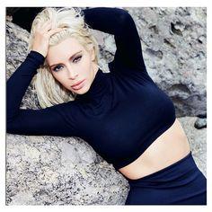 Kim Kardashian em seu ensaio para a Vogue Brasil - Foto: Reprodução/ Instagram