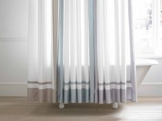 Featuring A Clean Design This Hotel Shower Curtain Looks Chic With Variety Of Bathroom Furniture Styles