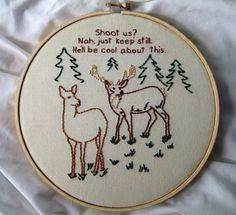 Bizarre/Funny Embroideries by Stephanie Tillman