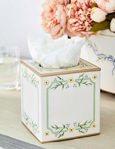 The Official Sophie Conran Shop | Gustavian Hand-Painted Tissue Box Cover