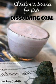 Dissolving Fizzy Coal: Christmas Science