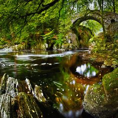 Bridge over the River Braan, The Hermitage, Perthshire, Scotland