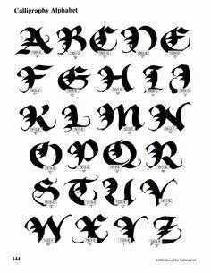Calligraphy Alphabet : calligraphy alphabet guide