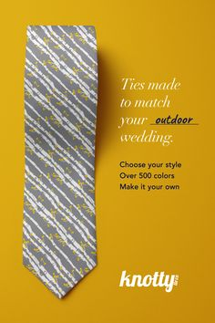 Design any color, pattern or size. Ties, bow ties and pocket squares for your wedding and groomsmen. Color matching to popular bridesmaid dress colors. Wedding Ties, Wedding Bells, Our Wedding, Knotty Tie, Bridesmaid Dress Colors, Tie And Pocket Square, Neckties, Wedding Outfits, Your Style