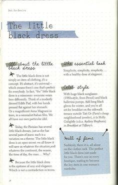 Parisian Chic: A Style Guide by Inès de la Fressange   The Little Black Dress