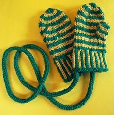 Banding Together Hat & Mitten Set pattern on Craftsy.com