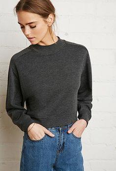 Mock Neck Sweatshirt   Forever 21 - 2000142301