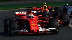 Sebastian Vettel (GER) Ferrari SF70-H leads Max Verstappen (NED) Red Bull Racing RB13 at Formula One World Championship, Rd1, Australian Grand Prix, Race, Albert Park, Melbourne, Australia, Sunday 26 March 2017. © Sutton Motorsport Images