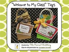 Welcome new students to your class with these cute welcome tags! Four tags in three different styles (jungle, frogs, owls) are included. I need those jungle themed labels! Classroom Welcome, Owl Classroom, Classroom Freebies, Classroom Themes, Classroom Rules, Back To School Night, 1st Day Of School, Beginning Of The School Year, School Fun