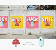 Designer Celebrates The '2 Most Famous Swear Words' With Cute Drawings - DesignTAXI.com