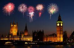 Fireworks over Parliament in #London http://www.nyhabitat.com/blog/2011/09/23/celebrate-guy-fawkes-night-london/