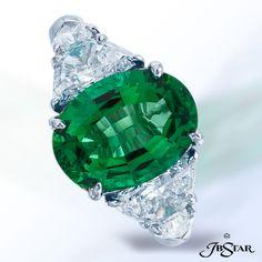 JB Star Oval Emerald and Diamond ring.