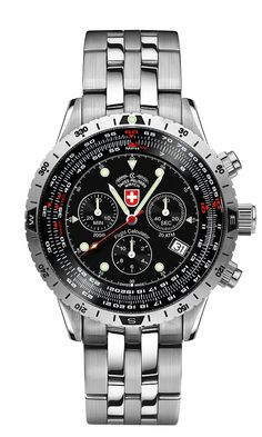 AIRFORCE I EVO by Swiss Military™/CX Swiss Military Watch™; professional grade Swiss Made wrist watches on the official Swiss Military™ website. The authentic Swiss Military timepieces Sport Watches, Cool Watches, Rolex Watches, Watches For Men, Wrist Watches, Trendy Watches, Tactical Watch, Chronograph, Air Force