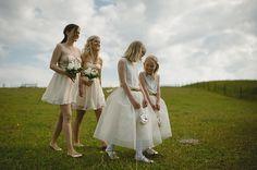 Bridesmaid dresses by Asos.  Stylish Swedish wedding by Nordica Photography.