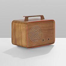 prototype radio enclosure by Charles Eames