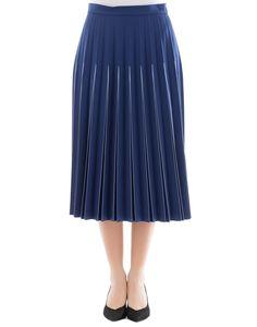 BOTTEGA VENETA BLUE WOOL SKIRT. #bottegaveneta #cloth #