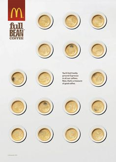 McDonalds Full Bean Coffee print ad by James Day