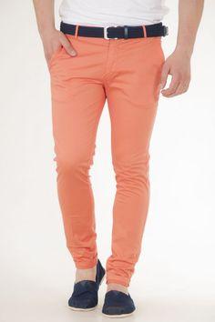 Παντελόνι υφασμάτινο κλασικό σε πορτοκαλί αντρικό over-d