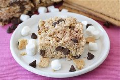 I'm sort of sick of all the s'more recipes out there lately. . .but I do love a good krispie treat!