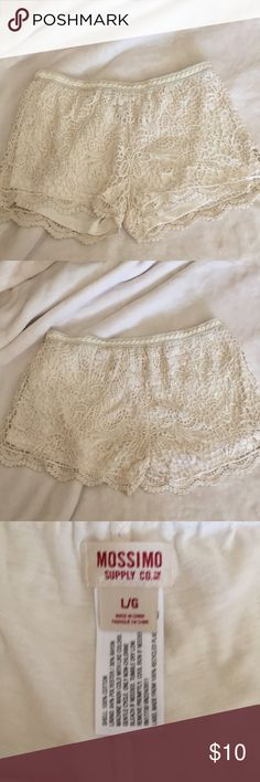 Mossimo Lace shorts Ivory Lace shorts Mossimo Supply Co. Shorts