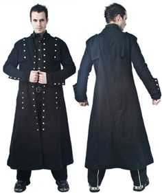 Goth Fashion for Men   Gothic trench coat for men pictured: Necessary Evil Mens Loki Full ...