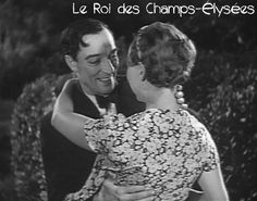 The happy ending in Le Roi - Buster smiles for the first time on film since the Arbuckle days