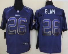 Nike Baltimore Ravens #26 Matt Elam 2013 Drift Fashion Purple Elite Jersey