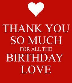Thank you BIRTHDAY LOVE