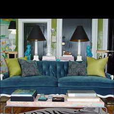 Blue and pea green...love!!