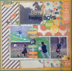 Boys Just Being Boys - Scrapbook.com