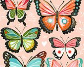 Butterfly Collection 8x10 Print - Pink. $18.00, via Etsy.