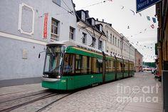 Tram On Helsinki Street Urban Images November 2015