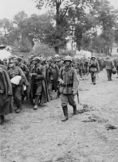 German soldiers escort Polish prisoners of war, 1939 - pin by Paolo Marzioli Invasion Of Poland, Prisoners Of War, History Photos, German Army, Countries Of The World, Military History, World War Ii, Wwii, Germany