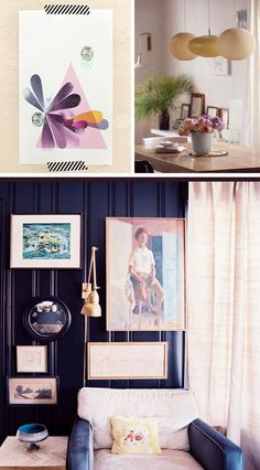The entire house done in shades of purple and hints of yellow