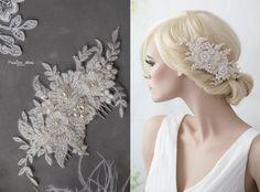 Braut haarschmuck spitze  Braut Haarschmuck Spitze-Perlen Haarband Haarreif | Braut ...