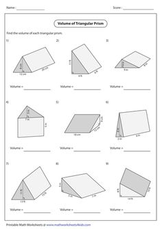 Volume of Compound Shapes lots of worksheets students can