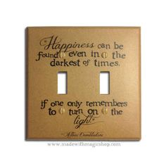 A Dumbledore quote light switch cover:
