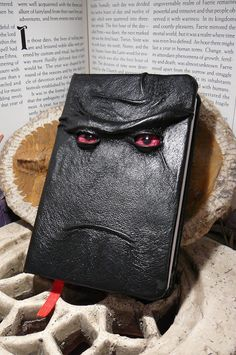 Mythical Beast Book Black leather with Red by AbbotsHollowStudios,