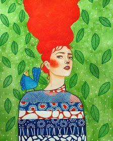 Por amor al arte: Hülya Özdemir Art Pop, Portrait Art, Watercolor Illustration, Painting Inspiration, Art Pictures, Canvas Art Prints, New Art, Illustrators, Art Drawings