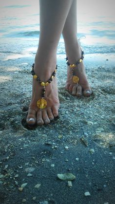 Barefoot, sandals. wedding, boho, sandles, anklet, tiger, eye, gold, tigers,  beach, wedding, bohemian, gypsy, tribal, bare, foot, indie