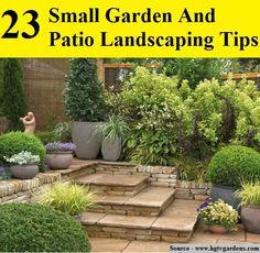 23 SMALL GARDEN AND PATIO LANDSCAPING TIPS