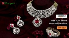 This Wedding Season buy #Diamond Jewellery at low price only @Amazon @27coupons #27coupons #Jewellery #Fashion http://27c.in/A6RcN