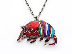 Armadillo Necklace / Chevron Necklace / por PeriwinkleNuthatch, $24.00