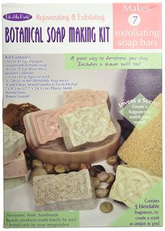 Life of the Party Botanical Soap Making Kit, 57035 Soap Making Kits, Soap Making Supplies, Homemade Soap Recipes, Homemade Gifts, Homemade Bar, Apricot Seeds, Oatmeal Soap, Exfoliating Soap, Rose Soap