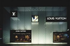 Louis Vuitton's checkered pattern on the inner wall produce a moiré effect.