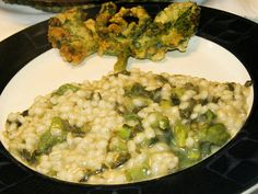 Risotto o Orzotto con Borragine - http://cucinasuditalia.blogspot.it/2013/03/orzotto-con-la-borragine.html