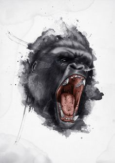 gorilla angry tattoo - Google Search