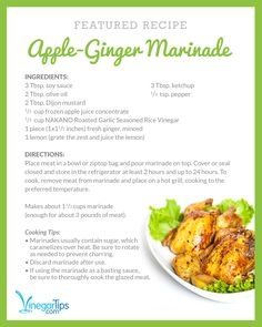 Apple Ginger Marinade