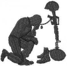 Machine Embroidery Designs Embroidery Design: Fallen Soldier Comrade 2.17 inches H x 2.20 inches W